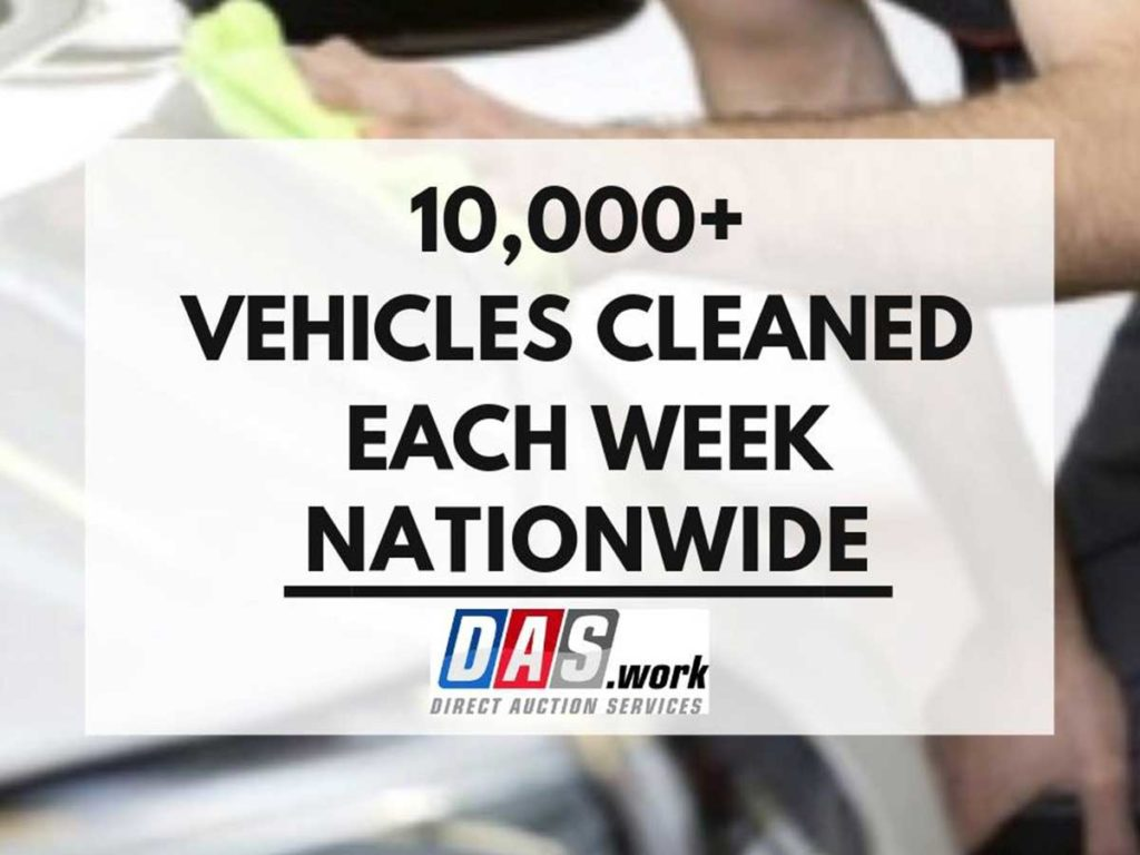 10,000 vehicles cleaned
